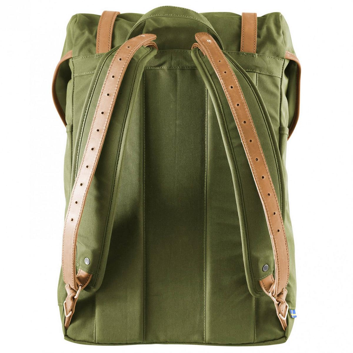 fjallraven-rucksack-no-21-medium- details mit lederriemen